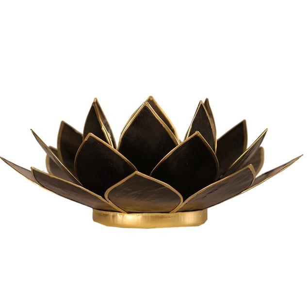 Lotusbloem sfeerlicht zwart