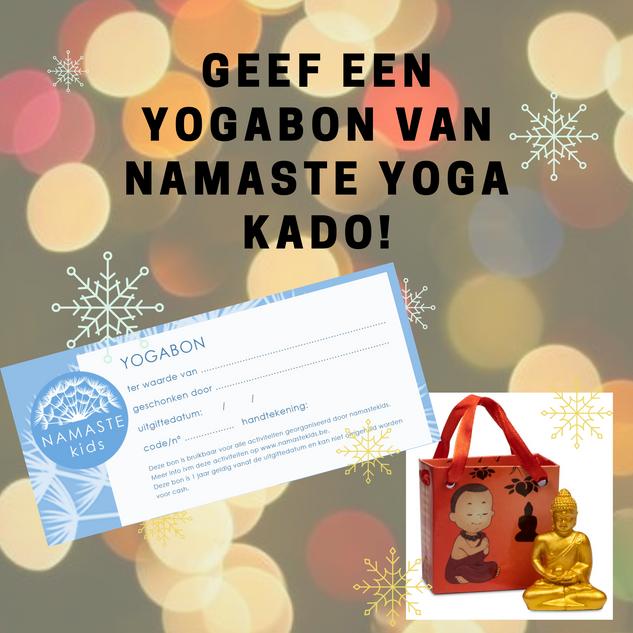 Geef een yogabon van Namastekids kado!