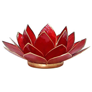 Lotusbloem sfeerlicht rood