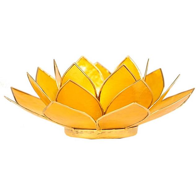 VERKOCHT!Lotusbloem sfeerlicht geel