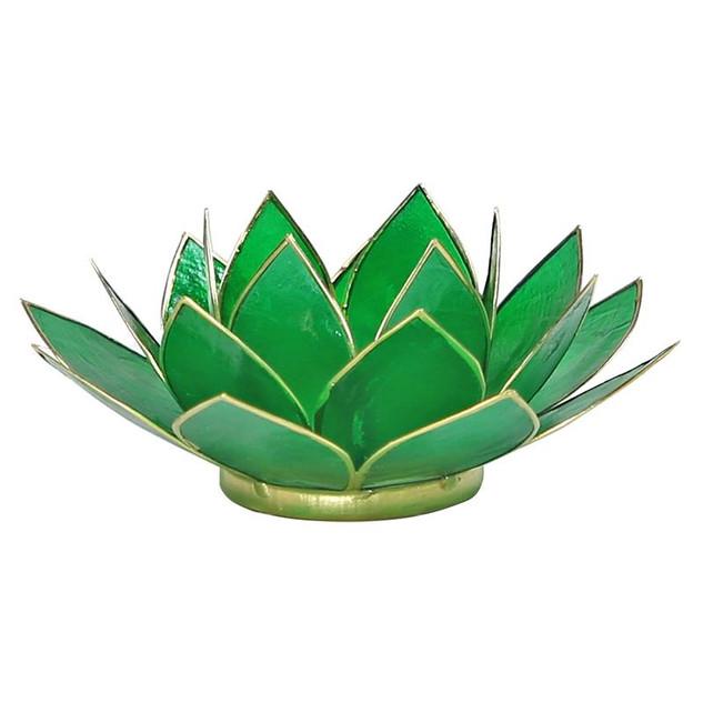 VERKOCHT Lotusbloem sfeerlicht groen