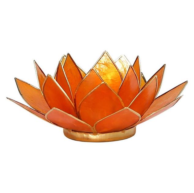 Lotusbloem sfeerlicht oranje