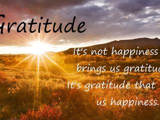 Gratitude creates Happiness