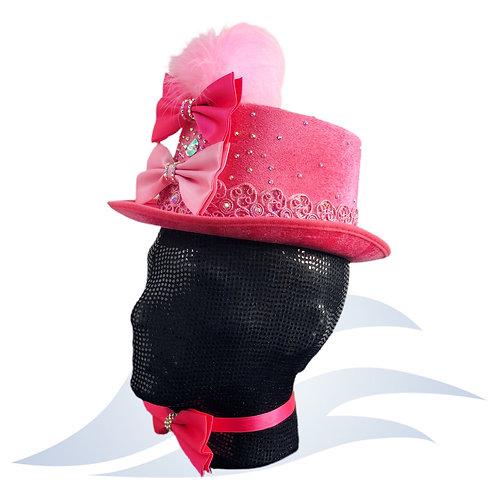 Pink Holographic BowTie Hat+ bowtie necklace