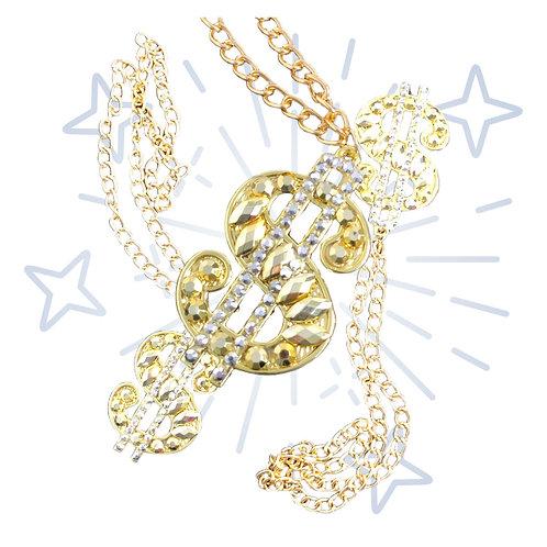 Crystal DOLLAR  necklace