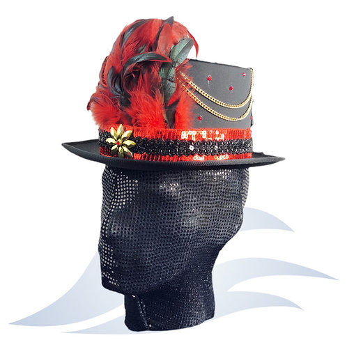 Black & Red Circus Hat