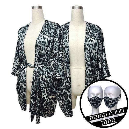Kimono- Black Leopard