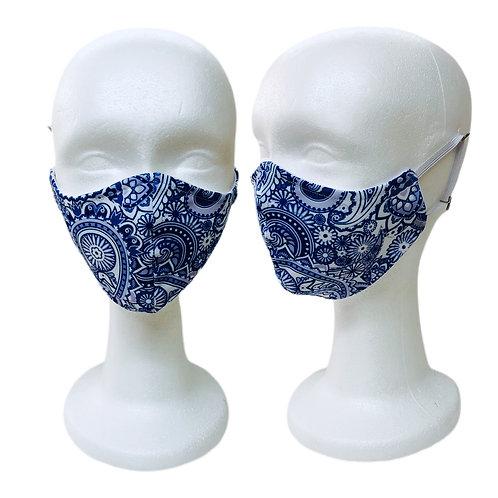 Blue Boho Bandanna
