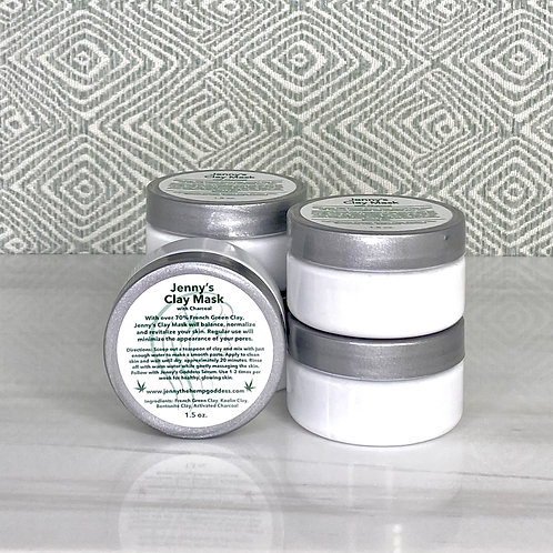 Jenny's Clay Mask with Charcoal