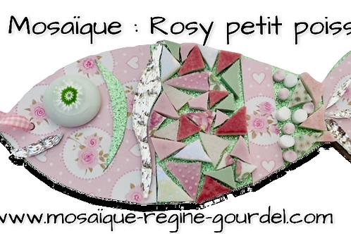 """KIT MOSAIQUE/PAPIER DECORATIFS / """"ROSY"""""""