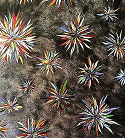 Tableau fleurs constellation