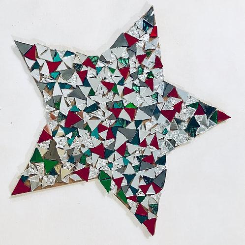 KIT MOSAIQUE : grande étoile de Noel