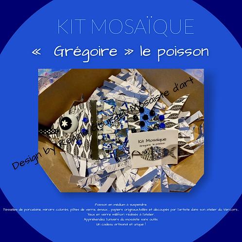 """KIT POISSON """" GREGOIRE""""/ MOSAIQUE& PAPIER"""