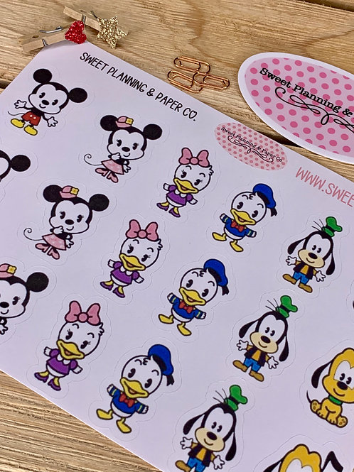 Disney Cuties Planner / Calendar Stickers (1)