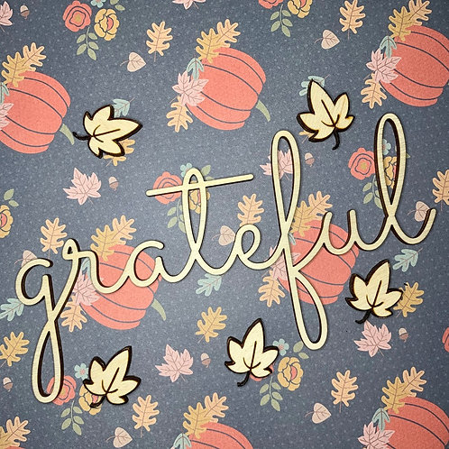 Grateful Plate Ornament / Fall Dinning Table Decor