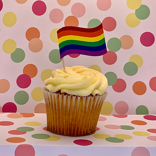 Equality Flag / Pride Flag Cupcake Topper