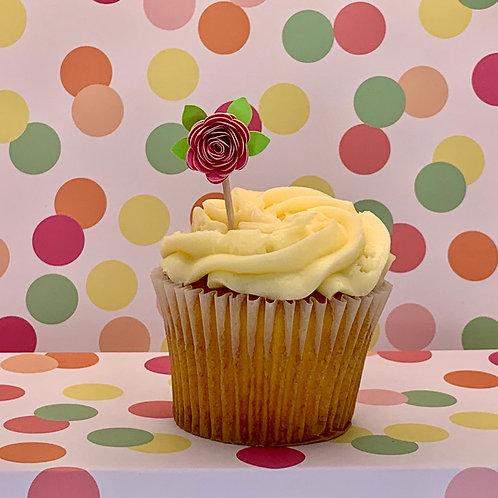 Rose - Cupcake Topper
