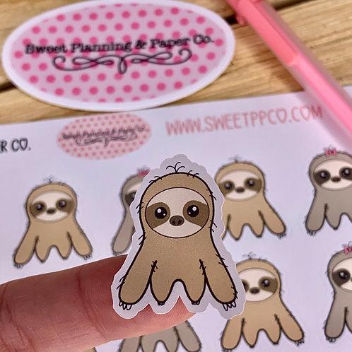 Cute Sloth Planner / Calendar Sticker