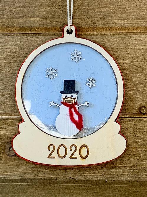 Snowman - Shaker Ornament / Christmas Ornament / Wood Ornament