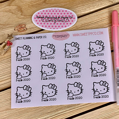 Hello Kitty (Explicit Content Sticker) - F**k 2020 Sticker Planner