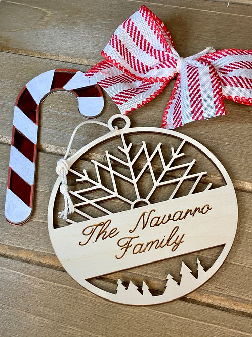 Custom Christmas Ornament / Wood Custom Ornament / Family Christmas Ornament
