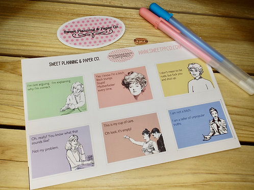 The Woman Card - Planner Sticker