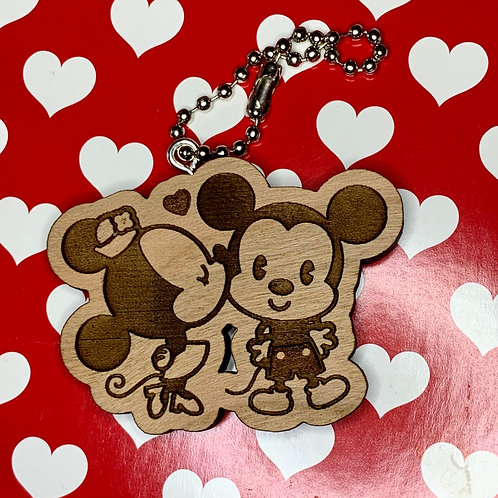 Cutie Mickey and Minnie Mouse Keychain, Personalized Gifts