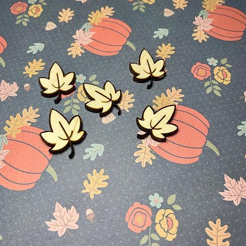 Leaf Wood Confetti / Fall Dinning Table Decor