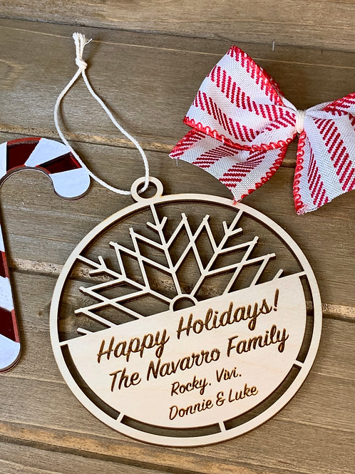 Custom Christmas Ornament / Family Ornament /Wood Ornament