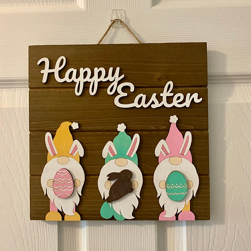Easter Gnome | Wall Decor | Easter Wall Sign Decoration