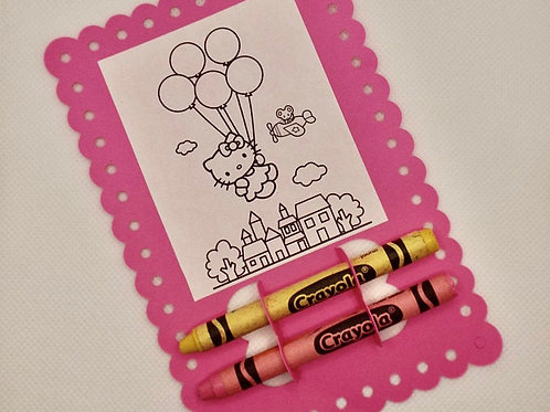 Hello Kitty - Coloring Card