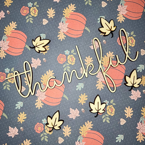 Thankful Plate Ornament / Fall Dinning Table Decor