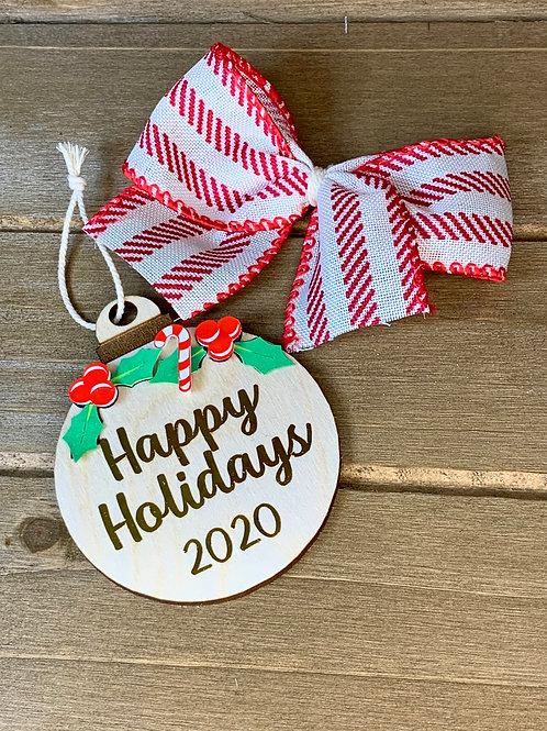 2020 Christmas Ornament / Farmhouse Ornament / Wood Ornament