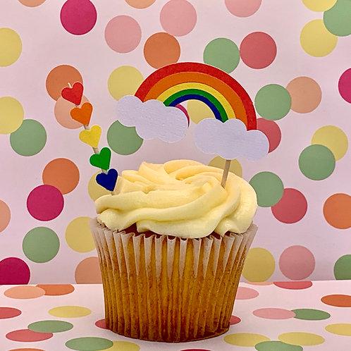 Rainbow - Cupcake Topper