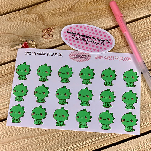 Kawaii Dino - Planner Sticker