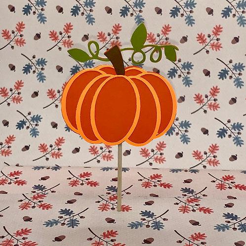 Pumpkin Cupcake Topper