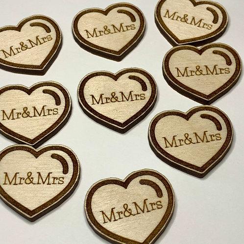 Mr&Mrs Wood Confetti