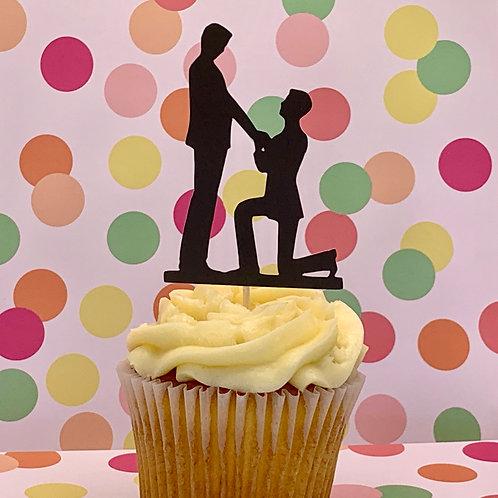 He Said Yes! - Cupcake Topper