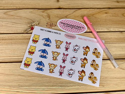 Disney Animals Cuties Planner / Stickers (2)