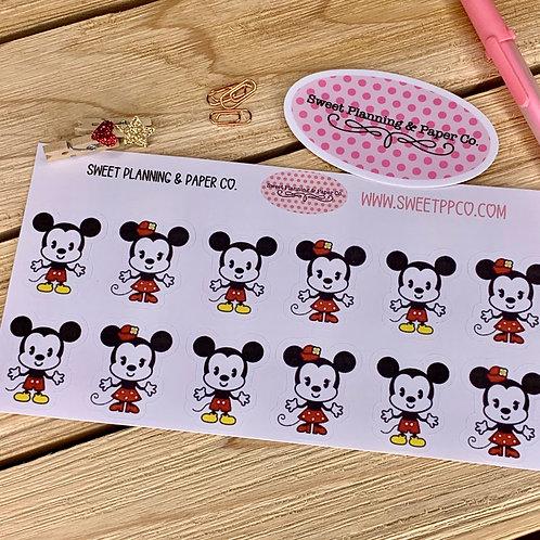 Mickey & Minnie Cuties Planner / Calendar Stickers