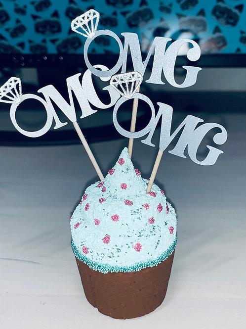 OMG Bling Cupcake Topper