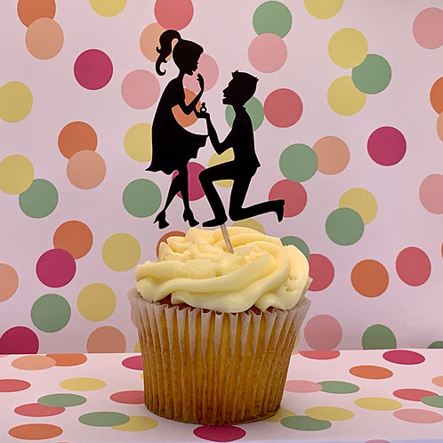 She Said Yes! Engagement Party / Bridal Shower Cupcake Topper