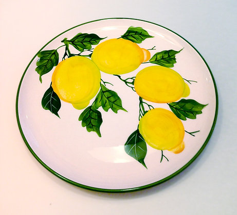 Piatto Ceramica dec. Limoni