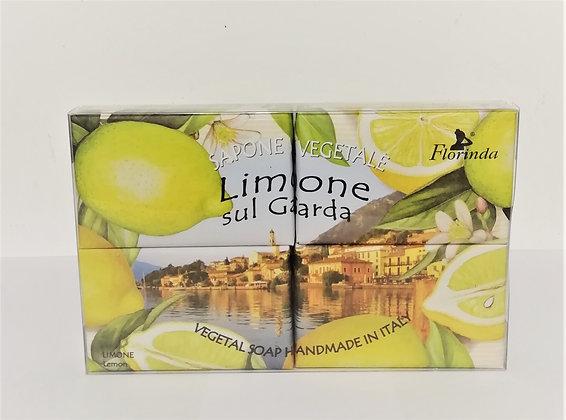 Scatola sapone vegetale al limone 4x50g