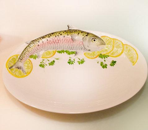 Piatto ceramica con tecorazione