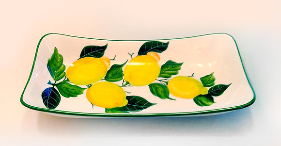 Vassoio Ceramica dec. Limoni