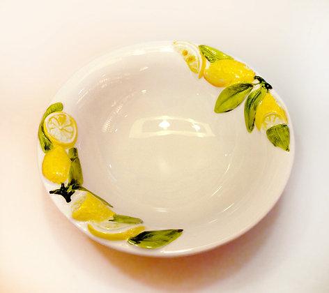 Piatto Fondo ceramica dec. Limoni