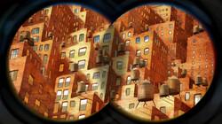 NYC through binoculars