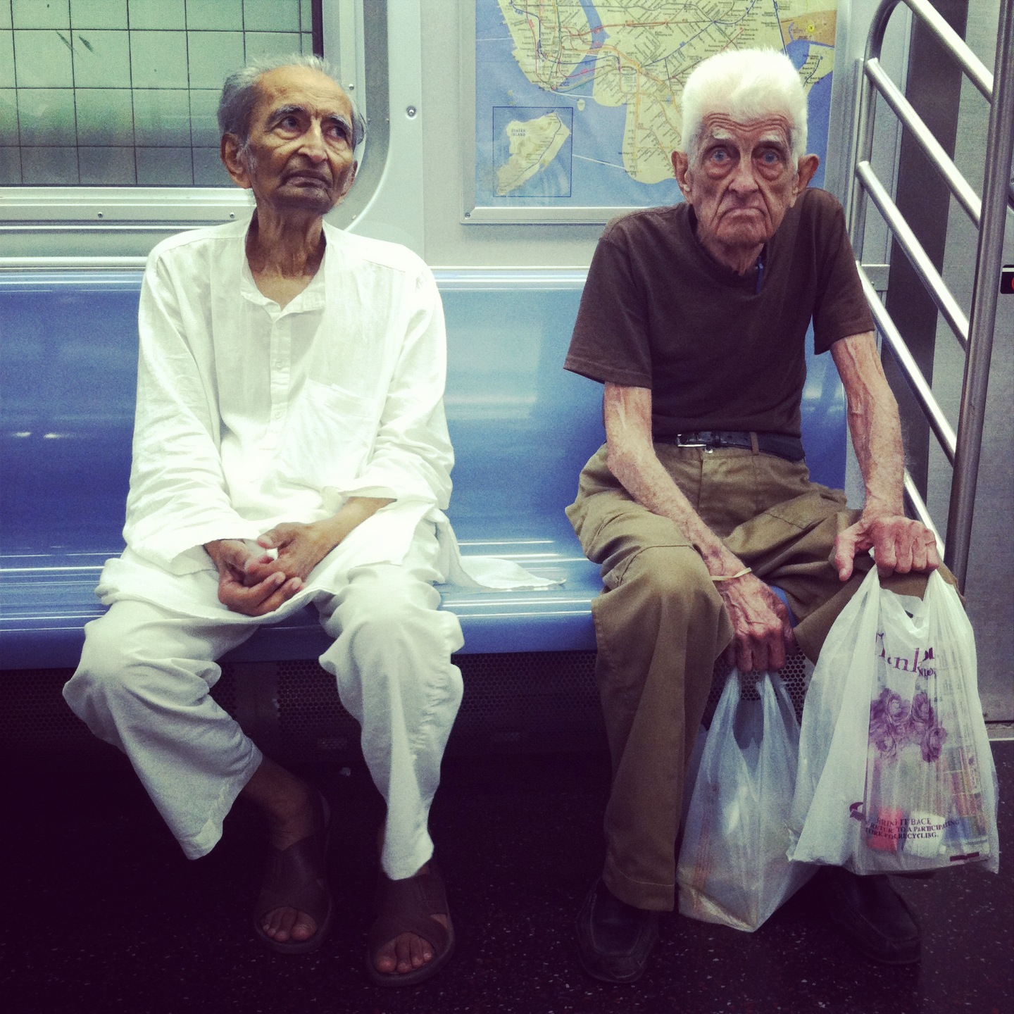 Old Strangers on the Subway 1