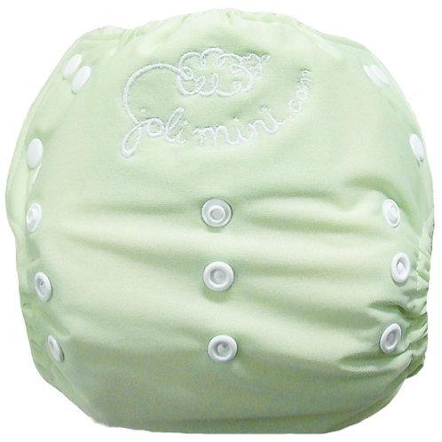 couche à poche vert bébé/blanc